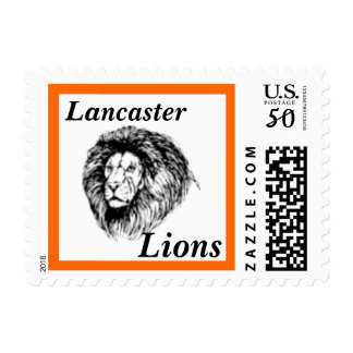 Lion Head School Mascot Postage Stamp