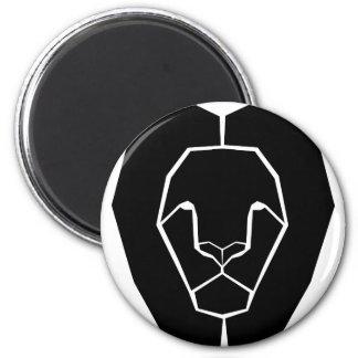 Lion Head Silhouette Shape Magnet