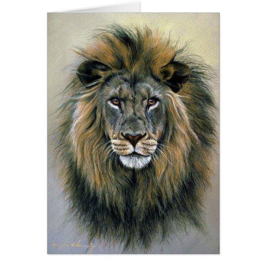 Lion (head study) card