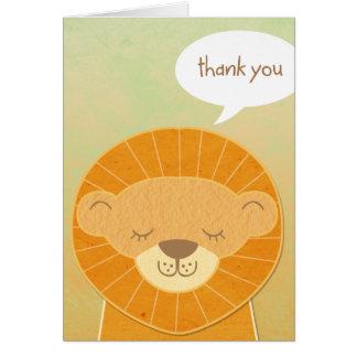 Lion Head Thank You Card