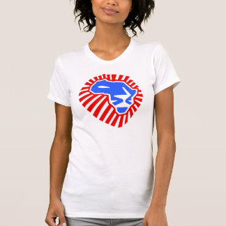 Lion Head This Time For Africa Waka-waka blue Red T-Shirt