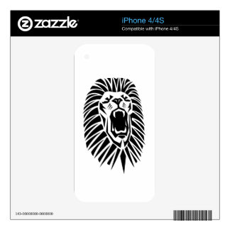 lion head vecto decals for the iPhone 4