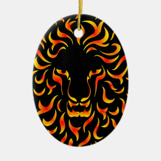 Lion Head with ethnic fire colors M1 Adorno De Reyes