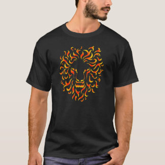 Lion Head with ethnic fire colors. M1. T-Shirt