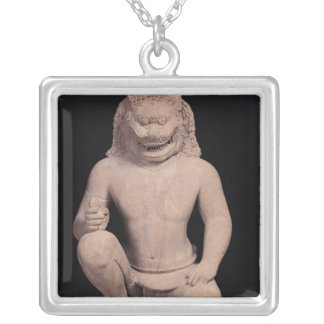 Lion-headed guardian, Banteay Srei Style, c.967 Silver Plated Necklace