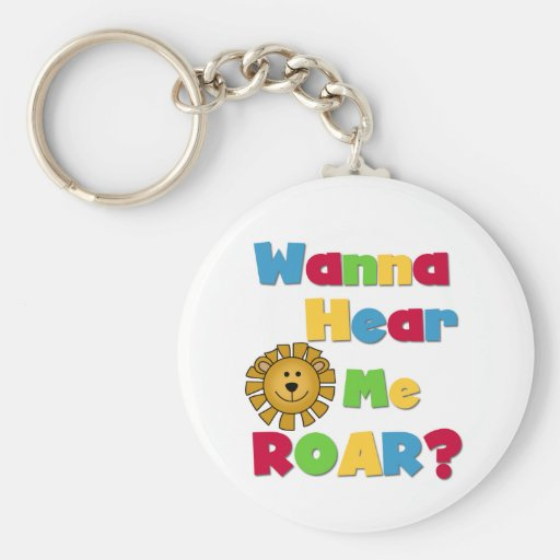 Lion Hear Me Roar T-shirts and Gifts Key Chains
