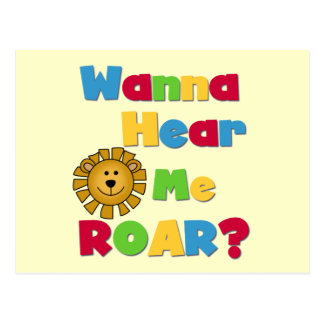 Lion Hear Me Roar T-shirts and Gifts Postcard