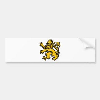 Lion Heart Bumper Sticker