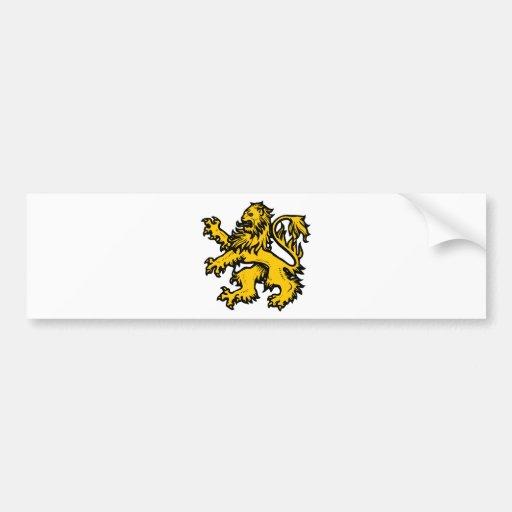 Lion Heart Car Bumper Sticker