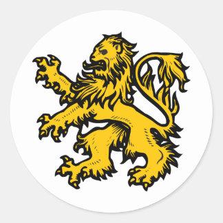 Lion Heart Classic Round Sticker
