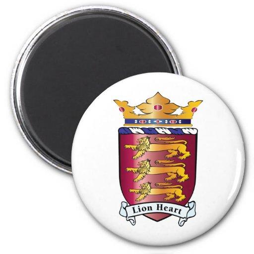 Lion Heart Crest Fridge Magnet