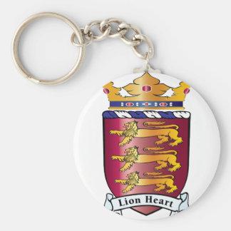 Lion Heart Crest Keychain