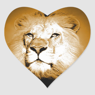 Lion Heart Sticker