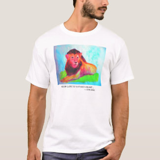 Lion Heart - Wild Animal Conservation John Muir T-Shirt