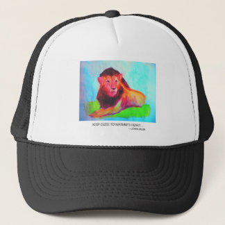 Lion Heart - Wild Animal Conservation John Muir Trucker Hat