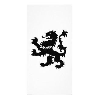 Lion heraldry photo card template