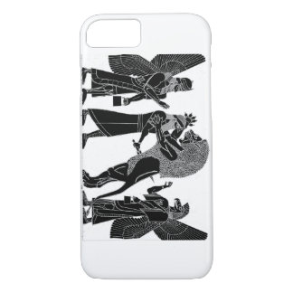 Lion Hunt Black on white iPhone iPhone 8/7 Case