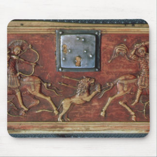 Lion Hunt, plaque from a Byzantine casket, 11th ce Mousepads