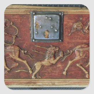 Lion Hunt, plaque from a Byzantine casket, 11th ce Stickers