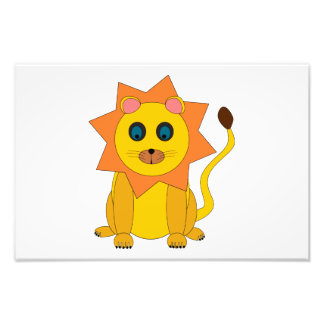 Lion illustration photograph
