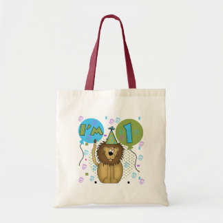 Lion I'm 1 First Birthday Tshirts and Gifts Canvas Bags