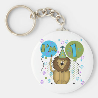 Lion I'm 1 First Birthday Tshirts and Gifts Key Chains