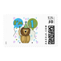 Lion I'm 1 First Birthday Tshirts and Gifts Postage