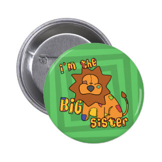 Lion I'm the Big Sister Button