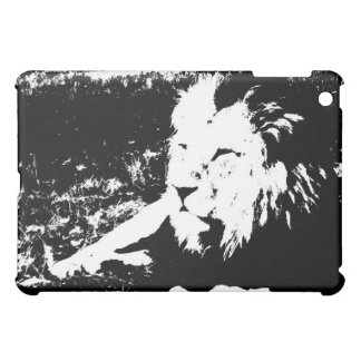 Lion in Black and White Case For The iPad Mini