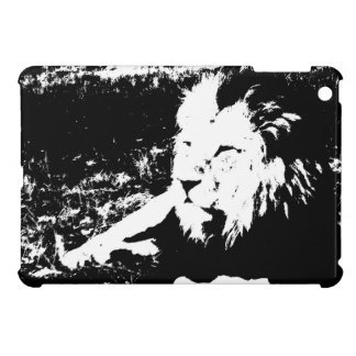 Lion in Black and White iPad Mini Cases