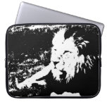 Lion in Black and White Laptop Sleeves