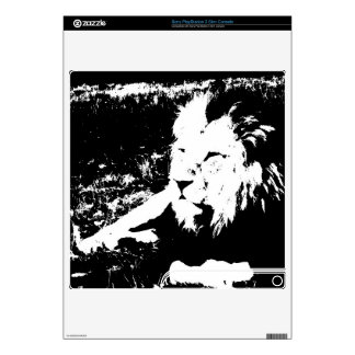Lion in Black and White PS3 Slim Skins