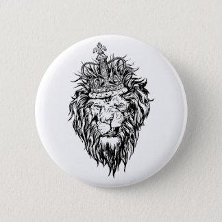 Lion in crown button