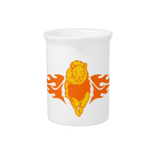 Lion in Flames Beverage Pitchers