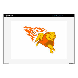 Lion in Flames Laptop Decal
