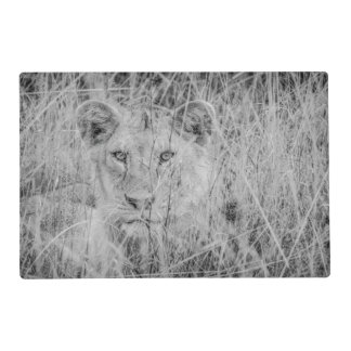Lion in Grass Laminated Placemat