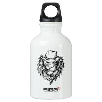 Lion in hat water bottle
