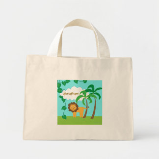 Lion in Jungle with Palm Trees Personalized Bag