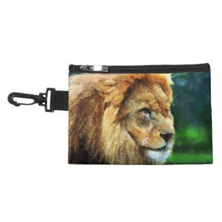 Lion In Nature Impressionist Art Accessory Bag