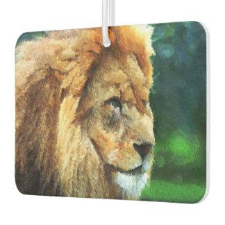Lion In Nature Impressionist Art Air Freshener