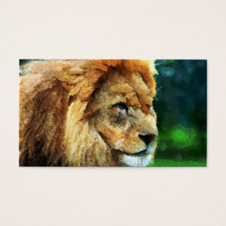Lion In Nature Impressionist Art Business Card
