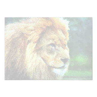 Lion In Nature Impressionist Art Card