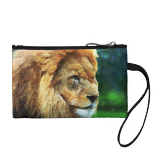 Lion In Nature Impressionist Art Coin Wallet