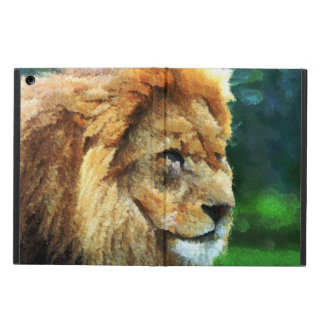 Lion In Nature Impressionist Art iPad Air Cover