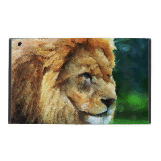 Lion In Nature Impressionist Art iPad Case