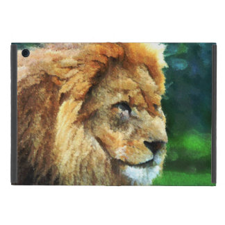 Lion In Nature Impressionist Art iPad Mini Cover