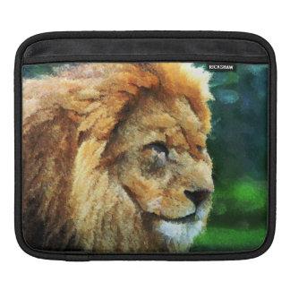Lion In Nature Impressionist Art iPad Sleeve