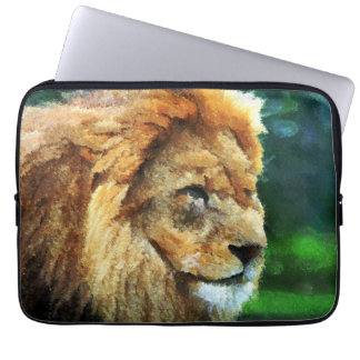 Lion In Nature Impressionist Art Laptop Computer Sleeves