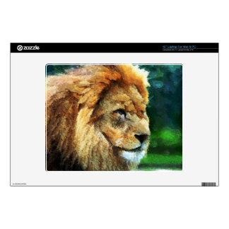 Lion In Nature Impressionist Art Laptop Decal