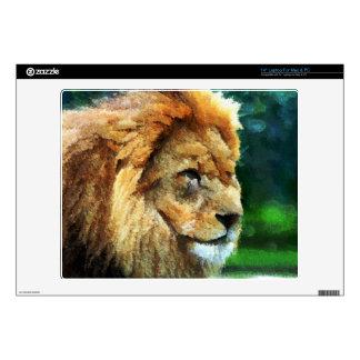 Lion In Nature Impressionist Art Laptop Skin